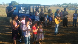 We taught on worship during a Bible study and the kids LOVED playing the instruments. We bring the instruments every Saturday now and the kids take turn playing them.